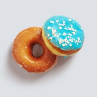 Donuts blue